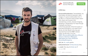 Example of engaging Instagram post from Doctors Without Borders.
