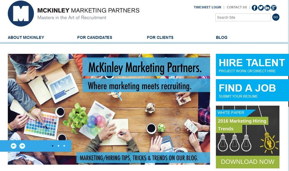 McKinley Marketing Partners home page